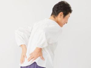 左京区で腰痛に悩む女性