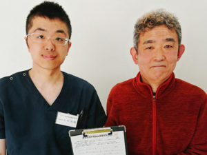 整形外科でも良くならなかった肩の痛み、左京区60代男性